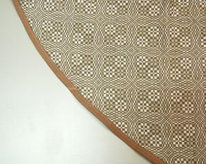 runde Tischdecke mit Schrägband
